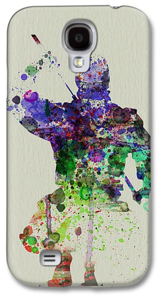 Singing Paintings Galaxy S4 Cases - Samurai Galaxy S4 Case by Naxart Studio