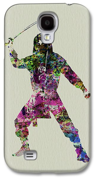 Singing Paintings Galaxy S4 Cases - Samurai with a sword Galaxy S4 Case by Naxart Studio