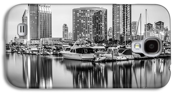 San Diego At Night Black And White Picture Galaxy S4 Case by Paul Velgos