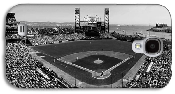 Sports Photographs Galaxy S4 Cases - San Francisco Ballpark BW Galaxy S4 Case by C H Apperson