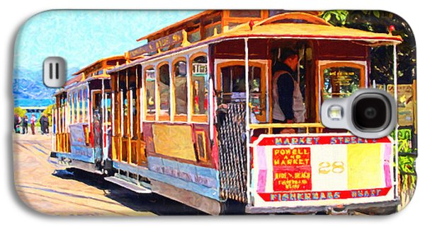 Wing Tong Galaxy S4 Cases - San Francisco Cablecar At Fishermans Wharf . 7D14097 Galaxy S4 Case by Wingsdomain Art and Photography