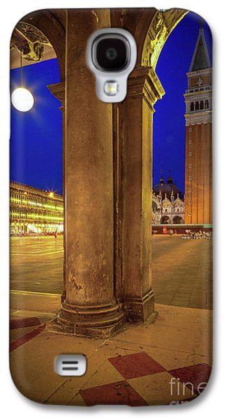 San Marco At Night Galaxy S4 Case by Inge Johnsson