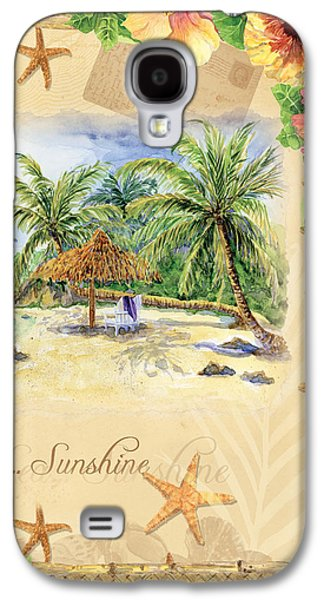 Sand Sea Sunshine On Tropical Beach Shores Galaxy S4 Case by Audrey Jeanne Roberts