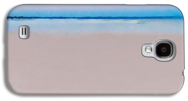 Sunset Abstract Galaxy S4 Cases - Sand and Sea Galaxy S4 Case by Andrea Kollo