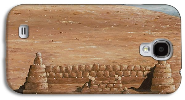 Sand Castles Paintings Galaxy S4 Cases - Sand castle at Lake Powell Galaxy S4 Case by Mary Ann King