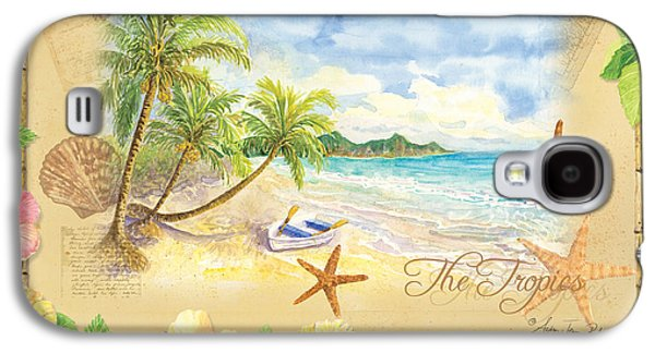 Bamboo House Galaxy S4 Cases - Sand Sea Sunshine on Tropical Beach Shores Galaxy S4 Case by Audrey Jeanne Roberts