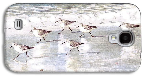 Sandpipers On Siesta Key Galaxy S4 Case by Shawn McLoughlin