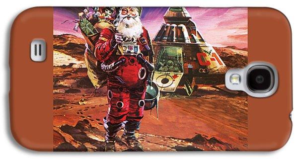 Santa Claus On Mars Galaxy S4 Case by English School