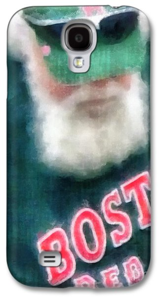 Boston Sox Galaxy S4 Cases - Santa Claus Spotted at Spring Training Galaxy S4 Case by Edward Fielding
