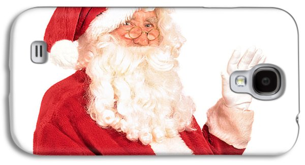 Nicholas Galaxy S4 Cases - Santa Claus Waving Hand Galaxy S4 Case by Amanda And Christopher Elwell