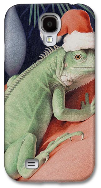 Reptiles Drawings Galaxy S4 Cases - Santa Claws - Bob the Lizard Galaxy S4 Case by Amy S Turner