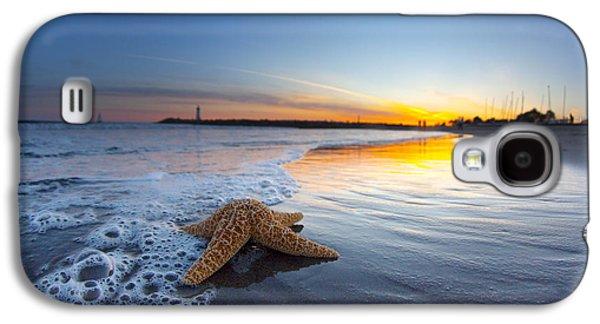 California Beach Art Galaxy S4 Cases - Santa Cruz Starfish Galaxy S4 Case by Sean Davey