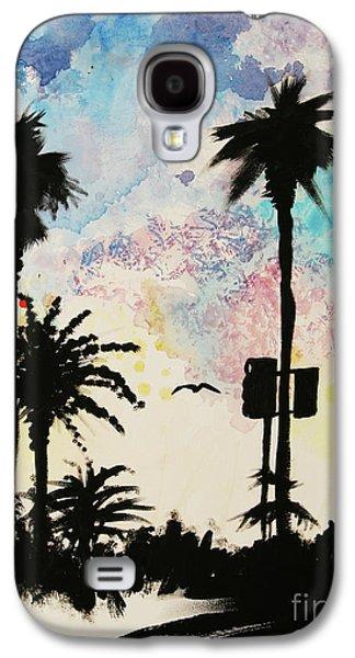 Santa Monica Pier - Center Two Of Three Galaxy S4 Case by Ashlynn Apffel