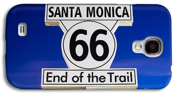 Monica Galaxy S4 Cases - Santa Monica Route 66 Sign Galaxy S4 Case by Paul Velgos