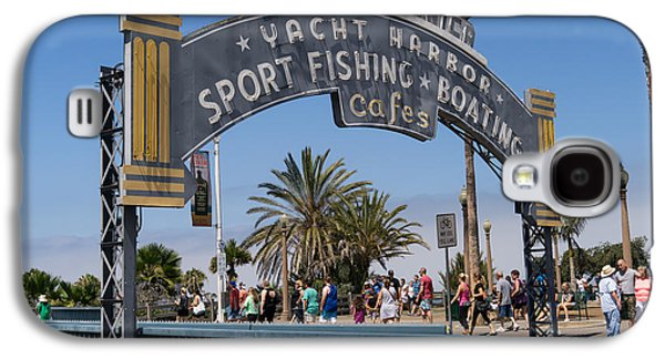 Rollercoaster Photographs Galaxy S4 Cases - Santa Monica Yacht Harbor at Santa Monica Pier in Santa Monica California DSC3669 Galaxy S4 Case by Wingsdomain Art and Photography
