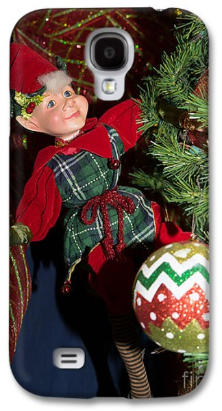 Elf Photographs Galaxy S4 Cases - Santas Little Helper in Petaluma California USA DSC3767 Galaxy S4 Case by Wingsdomain Art and Photography