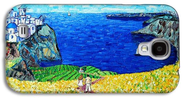 Santorini Honeymoon Galaxy S4 Case by Ana Maria Edulescu
