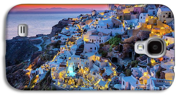Europa Galaxy S4 Cases - Santorini Sunset Galaxy S4 Case by Inge Johnsson
