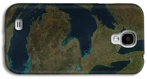 Alga Galaxy S4 Cases - Satellite View Of The Great Lakes, Usa Galaxy S4 Case by Stocktrek Images