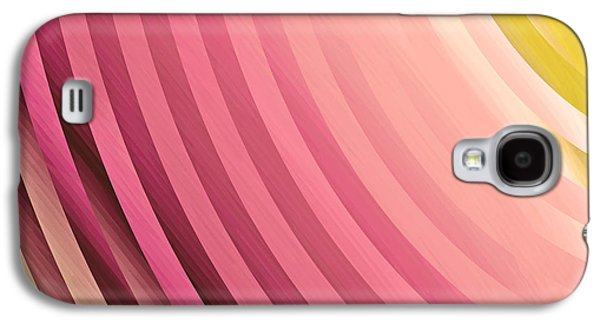 Salmon Paintings Galaxy S4 Cases - Satin Movements Coral Galaxy S4 Case by Mindy Sommers