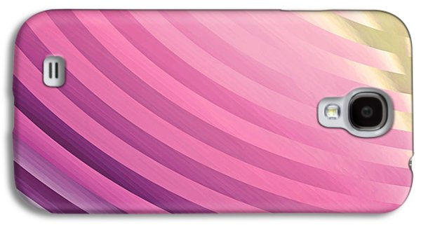 """""""geometric Art"""" Galaxy S4 Cases - Satin Movements Pink Galaxy S4 Case by Mindy Sommers"""