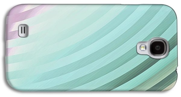 """""""geometric Art"""" Galaxy S4 Cases - Satin Movements Sky Blue Galaxy S4 Case by Mindy Sommers"""