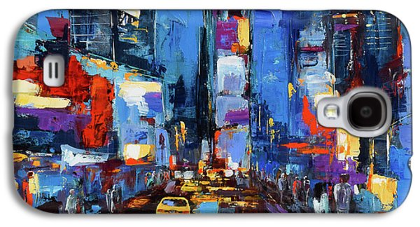 Saturday Night In Times Square Galaxy S4 Case by Elise Palmigiani