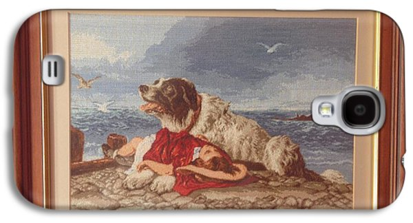 Dogs Tapestries - Textiles Galaxy S4 Cases - Saved after Sir Edwin Lanseer  Galaxy S4 Case by Maria Filip