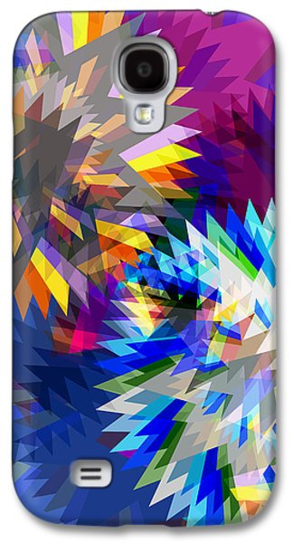 Multicolored Digital Galaxy S4 Cases - Saw Blade Galaxy S4 Case by Atiketta Sangasaeng