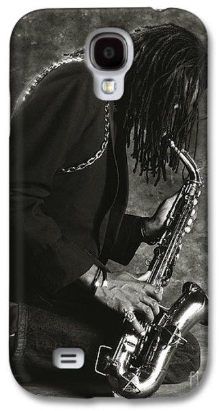 Saxophone Photographs Galaxy S4 Cases - Sax Player 1 Galaxy S4 Case by Tony Cordoza