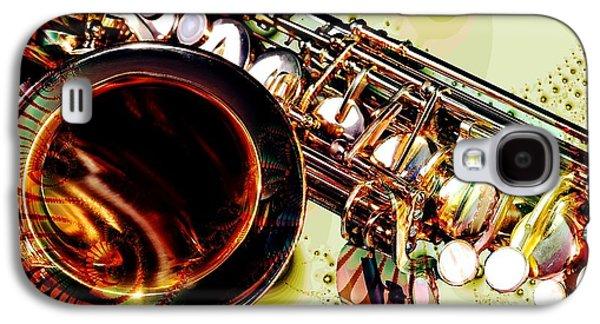 Galaxy S4 Cases - Saxophone Bell - Fantasy - Musical Instruments Galaxy S4 Case by Anastasiya Malakhova