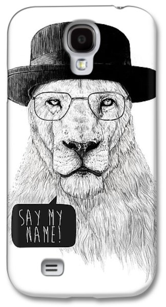 Lions Mixed Media Galaxy S4 Cases - Say my name Galaxy S4 Case by Balazs Solti