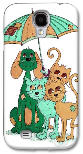 Stitch Galaxy S4 Cases - Scarecrow Dog Cats and Brolly Galaxy S4 Case by Sandra Moore