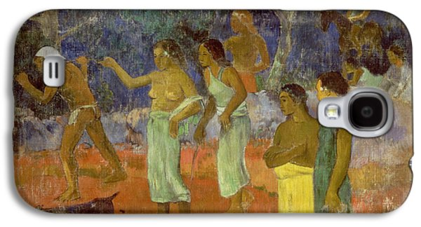 Scene From Tahitian Life Galaxy S4 Case by Paul Gauguin