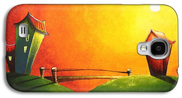 Surreal Landscape Drawings Galaxy S4 Cases - Scenic landscape  Galaxy S4 Case by Nirdesha Munasinghe
