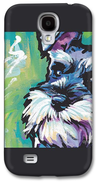 Schnauzer  Galaxy S4 Case by Lea S