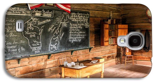Education Paintings Galaxy S4 Cases - Schoolhouse Classroom at Old World Wisconsin Galaxy S4 Case by Christopher Arndt