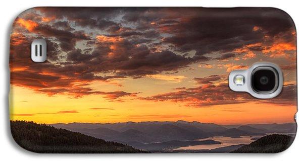 Idaho Photographs Galaxy S4 Cases - Schweitzer Mountain Sunrise Galaxy S4 Case by Mark Kiver