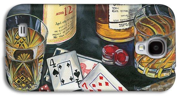 Scotch Cigars And Cards Galaxy S4 Case by Debbie DeWitt