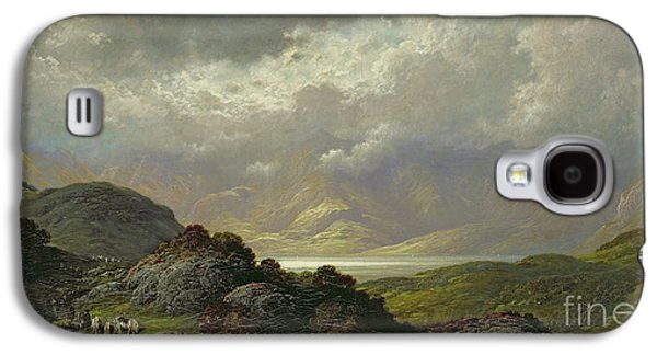 Wilderness Paintings Galaxy S4 Cases - Scottish Landscape Galaxy S4 Case by Gustave Dore