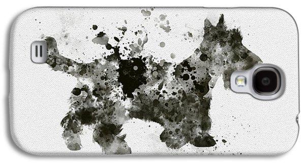 Scottish Terrier Galaxy S4 Case by Rebecca Jenkins