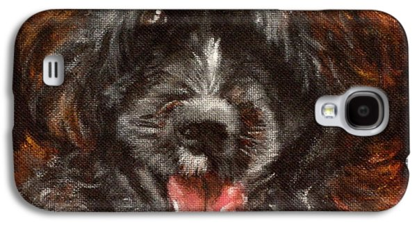 Dog Close-up Paintings Galaxy S4 Cases - Scout Galaxy S4 Case by Carol Russell