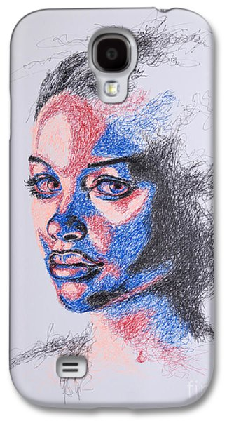Girl Galaxy S4 Cases - Scratched  Galaxy S4 Case by Fithi Abraham