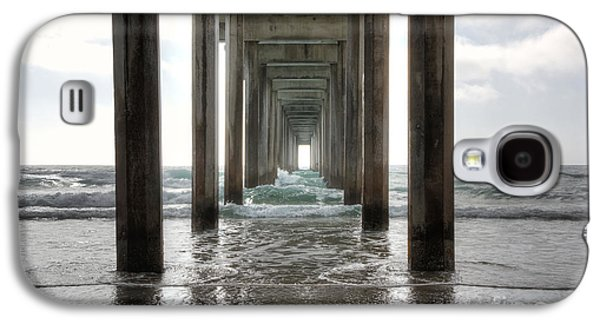 Waterscape Galaxy S4 Cases - Scripps Pier Galaxy S4 Case by Eddie Yerkish