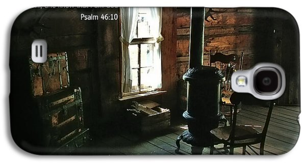 Bible Photographs Galaxy S4 Cases - Scripture and Picture Psalm 46 10 Galaxy S4 Case by Ken Smith