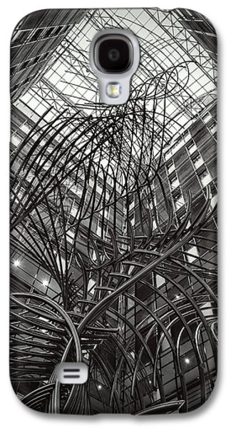 European Sculptures Galaxy S4 Cases - Sculpture in the PHS building at the European Parliament of Brussels Galaxy S4 Case by Boghiu Gabriela Monica