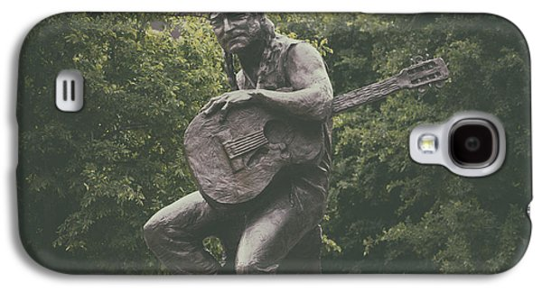 Cities Sculptures Galaxy S4 Cases - Sculpture Of Willie Nelson - Austin Texas Galaxy S4 Case by Mountain Dreams