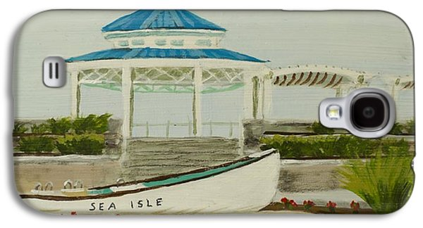 Jersey Shore Paintings Galaxy S4 Cases - Sea Isle City New Jersey Gazebo Galaxy S4 Case by Patty Kay Hall