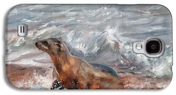 Sea Lion Galaxy S4 Case by David Stribbling