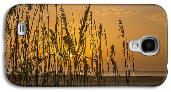 Beach Landscape Galaxy S4 Cases - Sea Oats at Tybee Island Galaxy S4 Case by A Different Brian Photography
